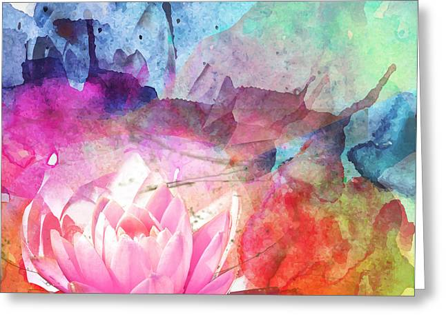 Lilly Pad Greeting Cards - Peacefully Free Greeting Card by Jill Bartosh