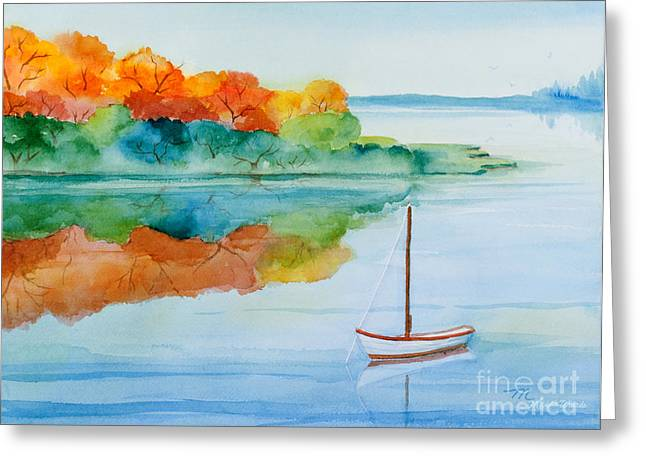 Michelle Greeting Cards - Peacefully Waiting Watercolor Greeting Card by Michelle Wiarda