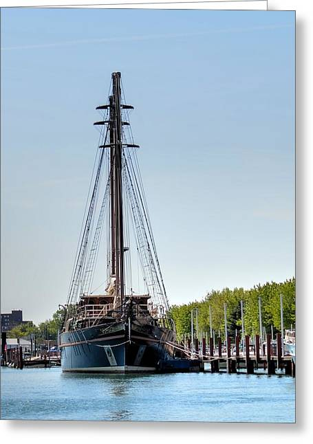 Wooden Ship Greeting Cards - Peacemaker Greeting Card by Deborah Ritch
