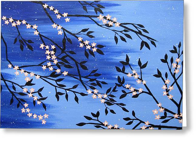 Apricot Greeting Cards - Peach Blossom Greeting Card by Cathy Jacobs