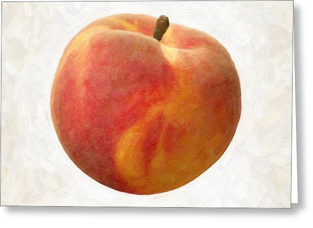 Single Object Paintings Greeting Cards - Peach Greeting Card by Danny Smythe