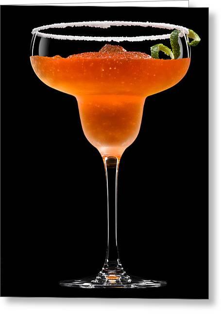Daiquiri Greeting Cards - Peach Margarita Cocktail Greeting Card by Ulrich Schade