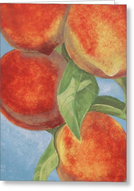 Peach Pizazz Greeting Card by Debora Baxter Jackson