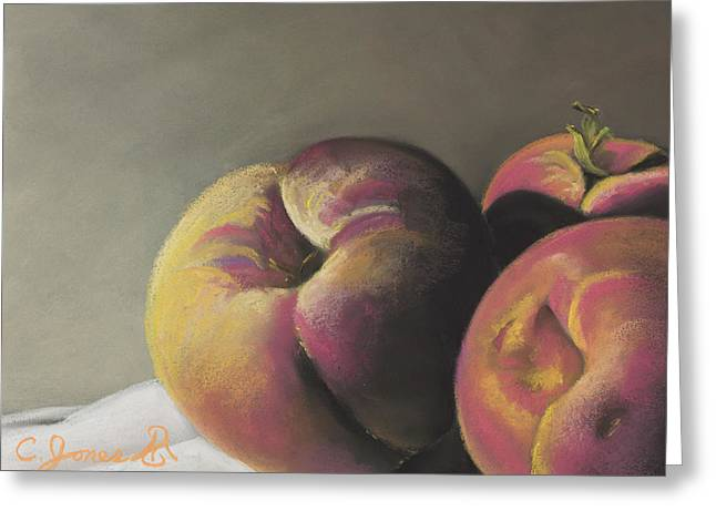 Peaches Pastels Greeting Cards - Peaches #2 Greeting Card by Charles T Jones