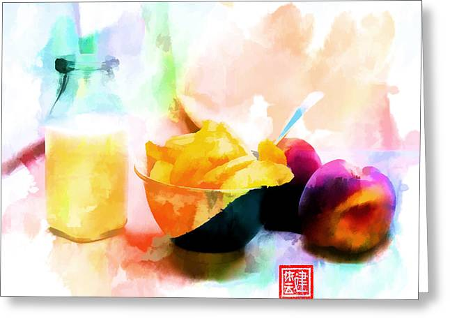 Peaches And Cream IIi Greeting Card by Ken Evans