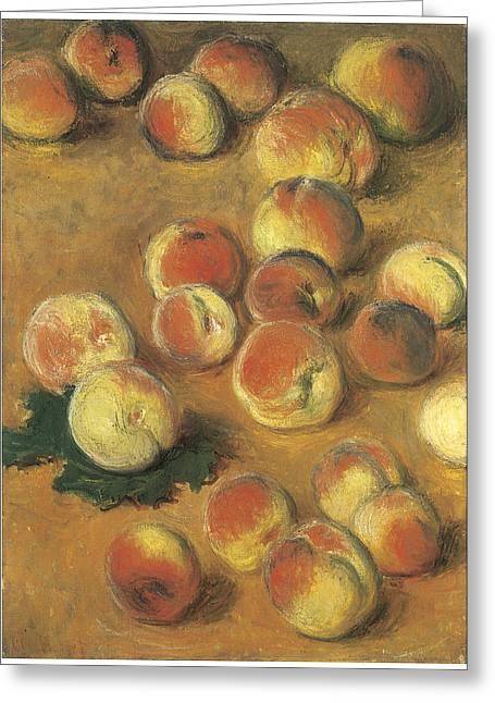 Peaches Greeting Card by Claude Monet