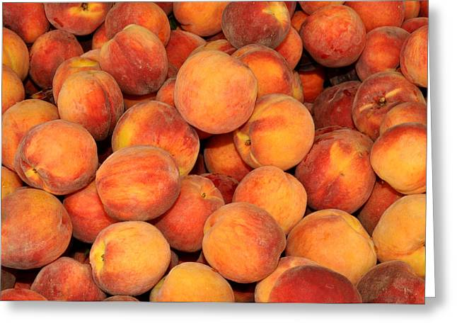 Peaches Greeting Card by Diane Lent