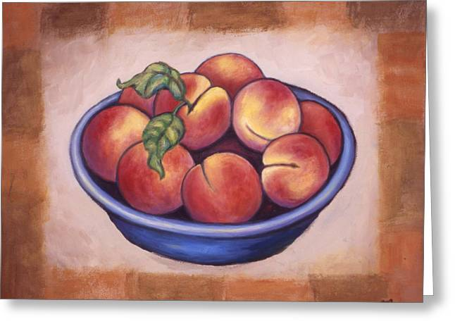 Peaches Greeting Card by Linda Mears
