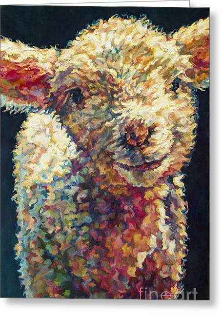 Ovine Greeting Cards - Peaches Greeting Card by Patricia A Griffin