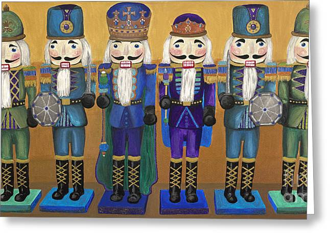 Nutcrackers Greeting Cards - Peacock Nutcrackers  Greeting Card by Patty Vicknair