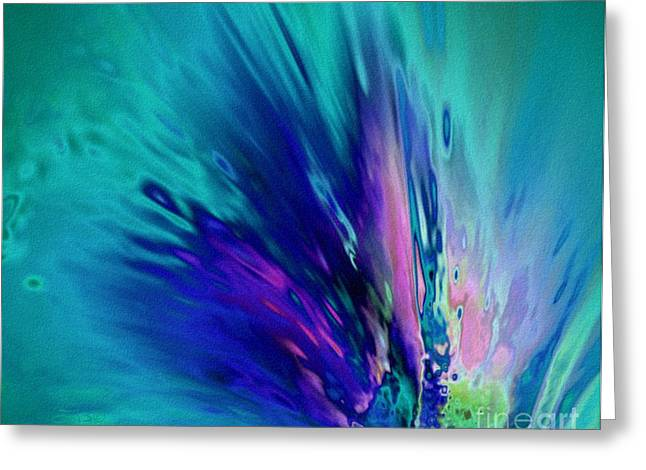 Glass Wall Drawings Greeting Cards - Peacock Paradise Greeting Card by TLynn Brentnall