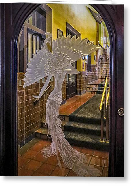 Prescott Greeting Cards - Peacock Room Door Greeting Card by Diane Wood