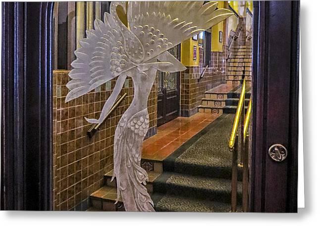 Peacock Room Door Greeting Card by Diane Wood