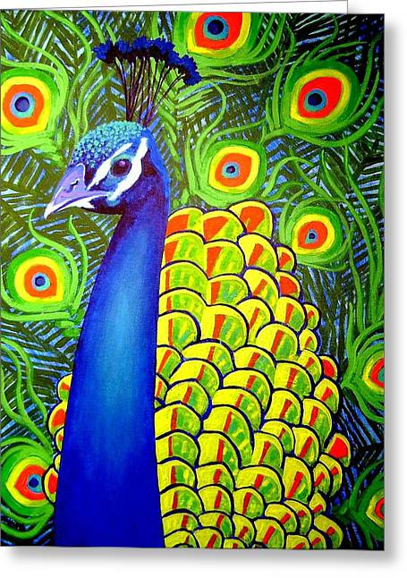 Bird Framed Prints Greeting Cards - Peacock VII Greeting Card by John  Nolan