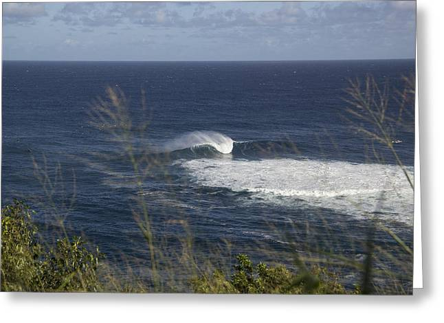 Surfing Art Greeting Cards - Peahi Jaws Greeting Card by Brad Scott