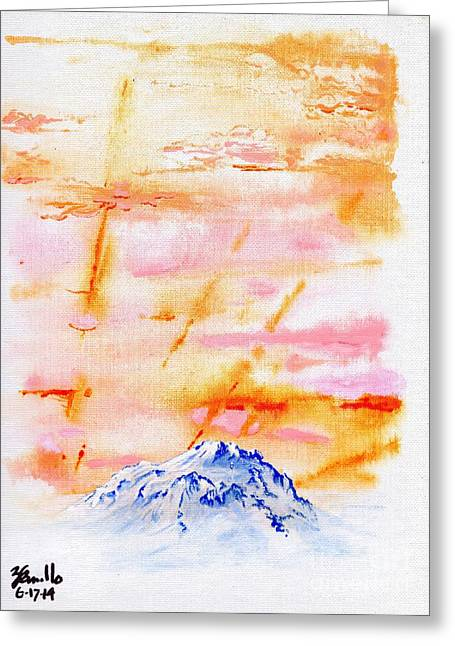 Amazing Sunset Drawings Greeting Cards - Peak-A-Boo Greeting Card by Andooga Design