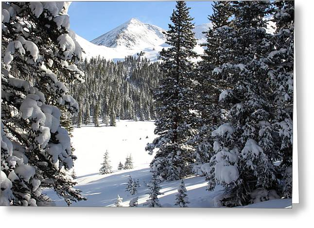 Scenic Highway Greeting Cards - Peak Peek Greeting Card by Eric Glaser