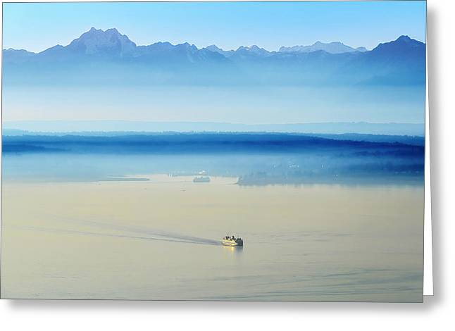 Bainbridge Island Greeting Cards - Peak to Sea Greeting Card by Ryan Manuel