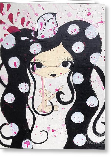 Nymph Greeting Cards - PeakAbOO Greeting Card by Twisted Lil mOnsters