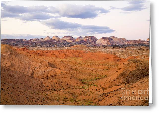 Peaks And Butte Capitol Reef N P Greeting Card by