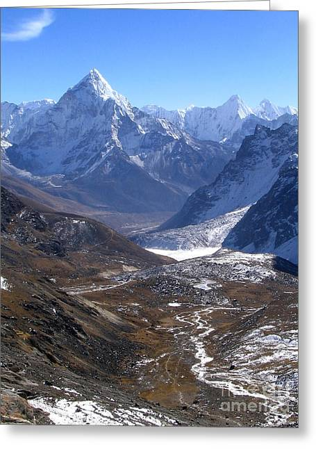 Mt Everest Base Camp Greeting Cards - Peaks and Valleys Greeting Card by Tim Hester