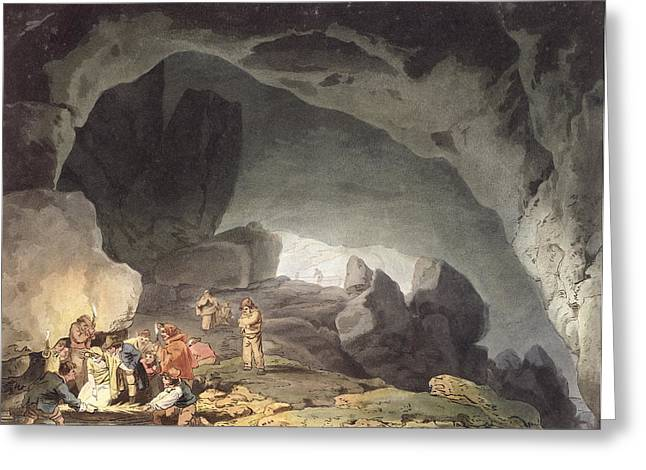 Cave Drawings Greeting Cards - Peaks Hole, Derbyshire Greeting Card by Joseph Mallord William Turner