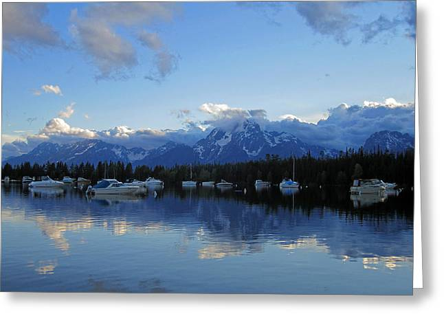 Teton Greeting Cards - Peaks of Glory Greeting Card by Mike Podhorzer