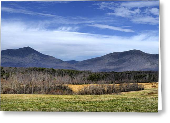 Southern Appalachians Greeting Cards - Peaks of Otter Mountains Greeting Card by Steve Hurt