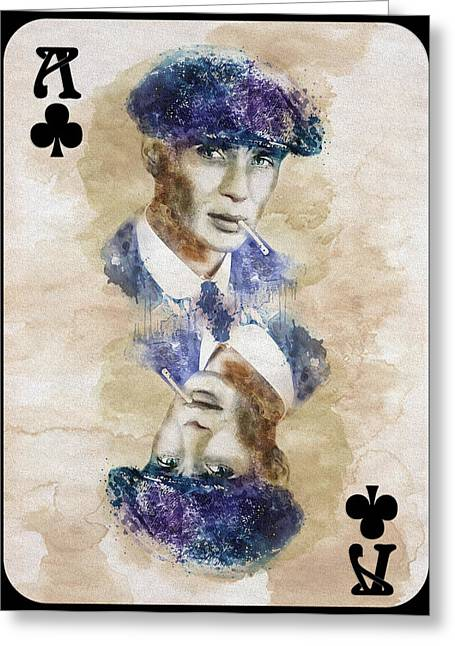 British Crime Greeting Cards - Peaky Blinders Playing Card Greeting Card by Marian Voicu