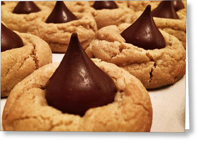 Favorite Cookies Greeting Cards - Peanut Butter Blossom Greeting Card by Tom Gari Gallery-Three-Photography