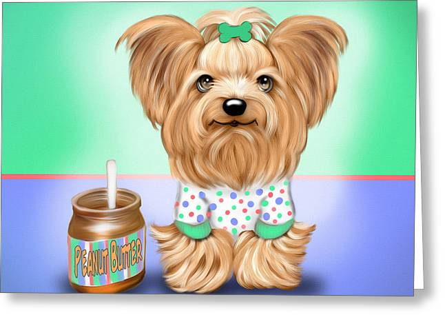 Pajamas Greeting Cards - Peanut Butter Lover Greeting Card by Catia Cho
