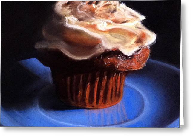Cupcakes Greeting Cards - Peanut Butter Cupcake Greeting Card by Cristine Kossow