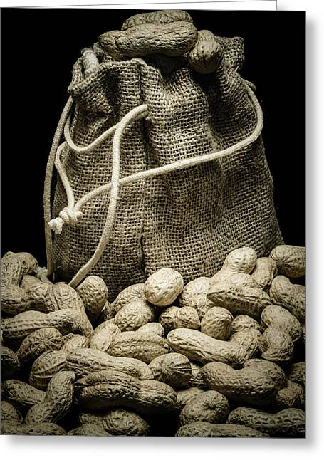 Shell Texture Greeting Cards - Peanuts In A Gunny Sack II Greeting Card by Marco Oliveira