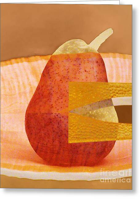 Produce Digital Art Greeting Cards - Pear 44 Greeting Card by Elena Nosyreva