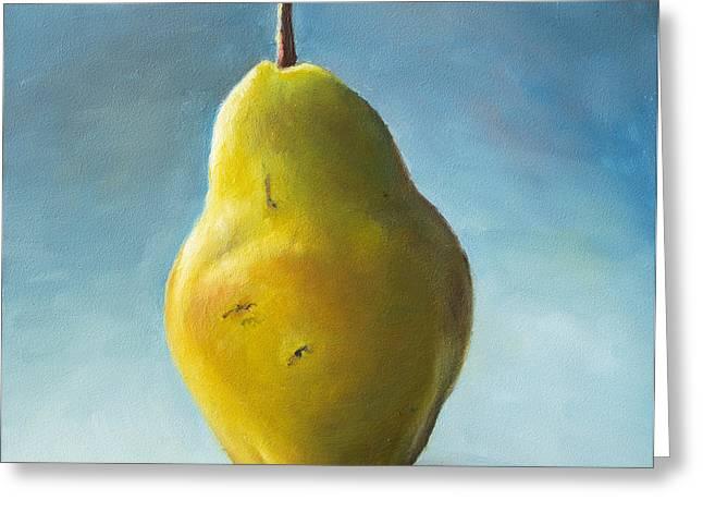 Pear Greeting Card by Anna Abramska