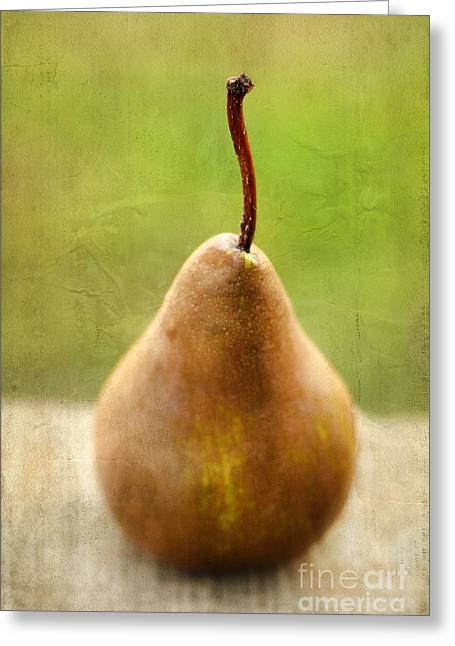 Pear Art Greeting Cards - Pear Greeting Card by Darren Fisher