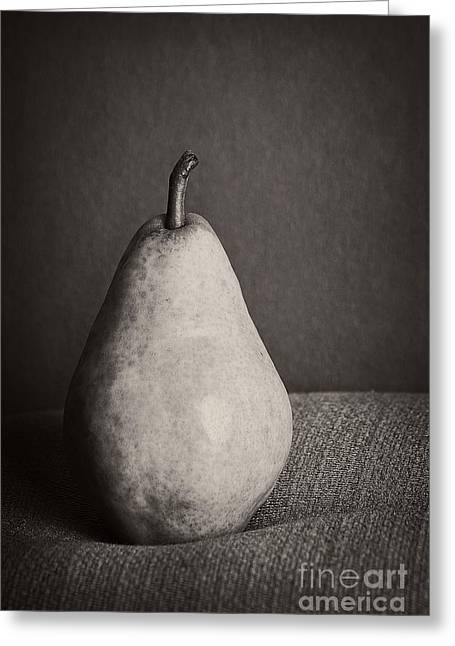 One Pear Greeting Cards - Pear Greeting Card by HD Connelly