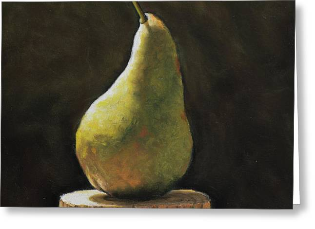 Pear Greeting Card by Joanne Grant