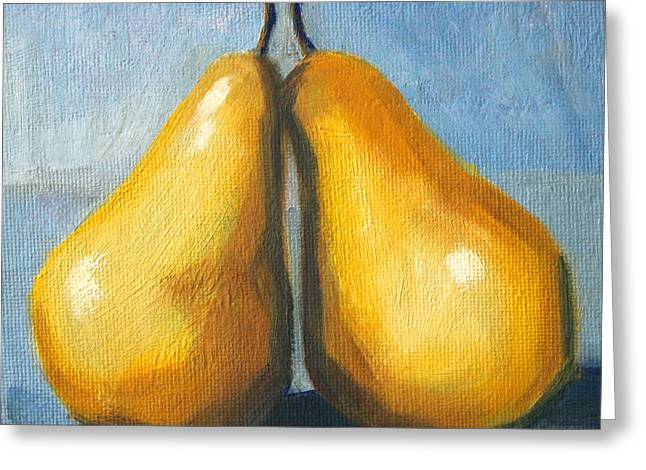 Pear Love Greeting Card by Nancy Merkle