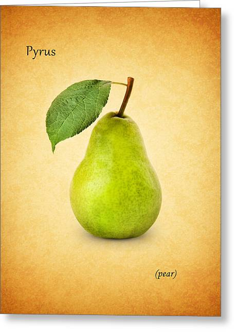 Pears Photographs Greeting Cards - Pear Greeting Card by Mark Rogan
