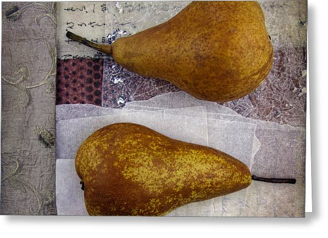 Pairs Greeting Cards - Pear Pair Greeting Card by Elena Nosyreva