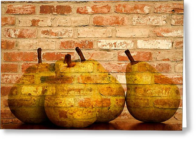 Fruit Tree Art Greeting Cards - Pear still life  Greeting Card by Geraldine Scull