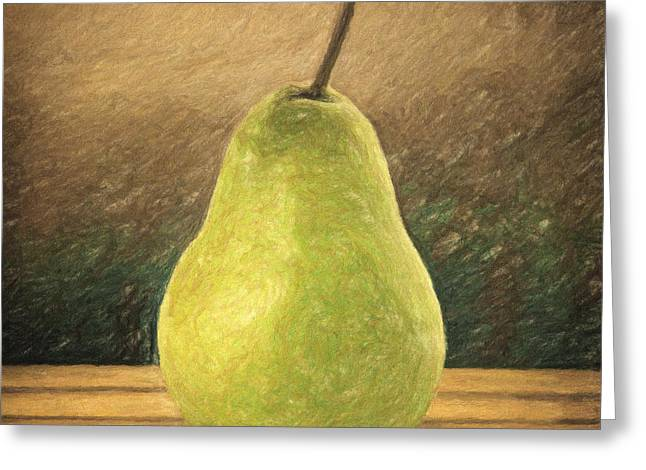 Pear Greeting Card by Taylan Soyturk