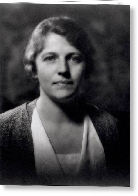 American Photographs Greeting Cards - Pearl Buck 1892-1973 B&w Photo Greeting Card by Arnold Genthe