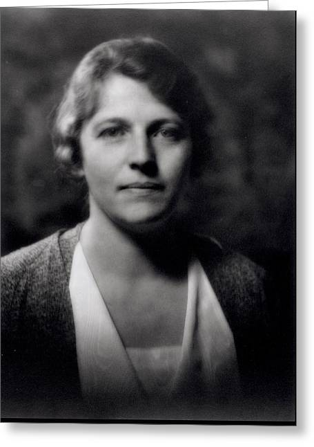 Pearl Buck 1892-1973 Greeting Card by Arnold Genthe