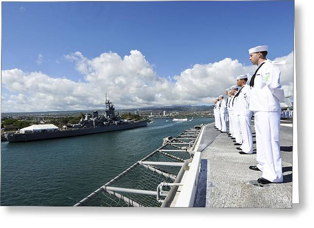 Military Might Greeting Cards - Pearl Harbor Hawaii Greeting Card by Mountain Dreams