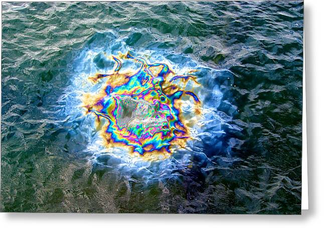 Oil Slick Greeting Cards - Pearl Harbor Greeting Card by Richard J Cassato