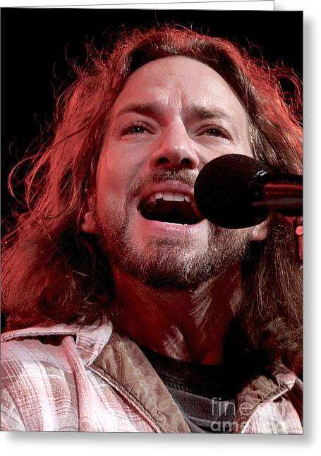 Pearl Jam Musicians Greeting Cards - Pearl Jam Greeting Card by Front Row  Photographs