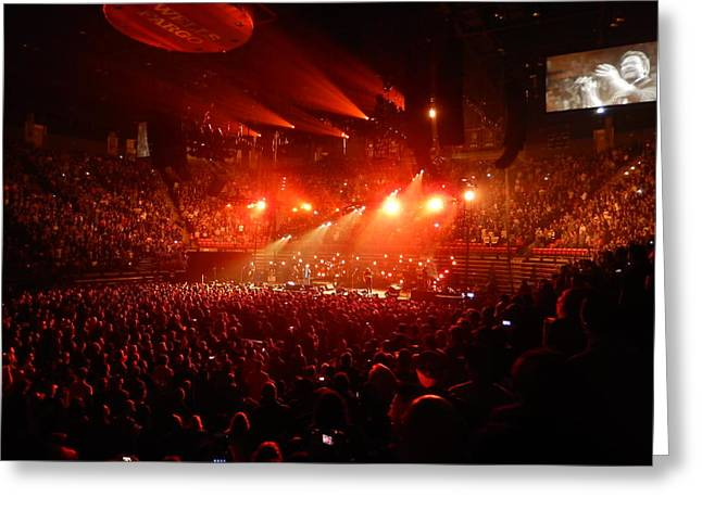 Pearl Jam Photographs Greeting Cards - Pearl Jam Lights Greeting Card by David Powell