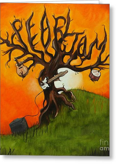 Pearl Jam Tree Greeting Card by Tarah Davis